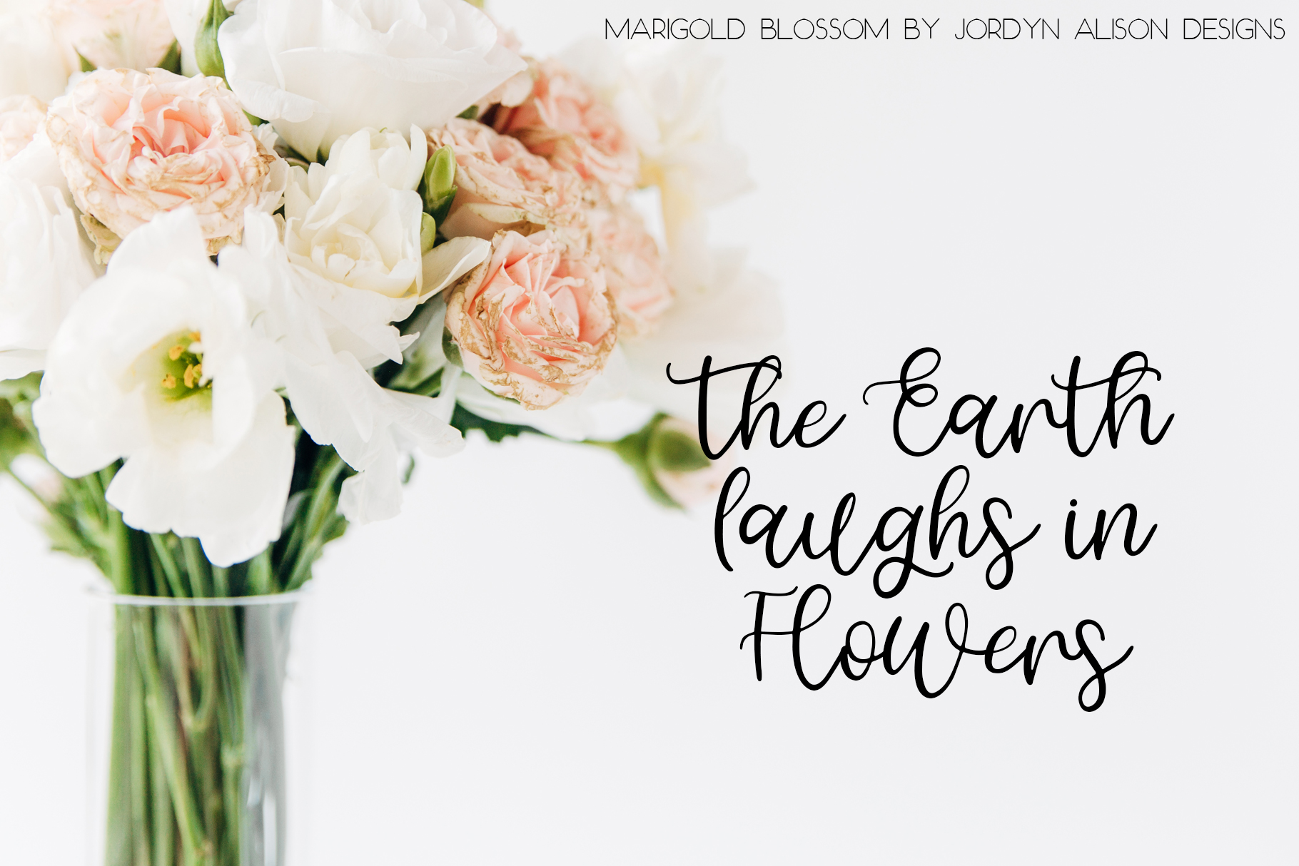 Marigold Blossom, Hand Lettered Script Font example image 4