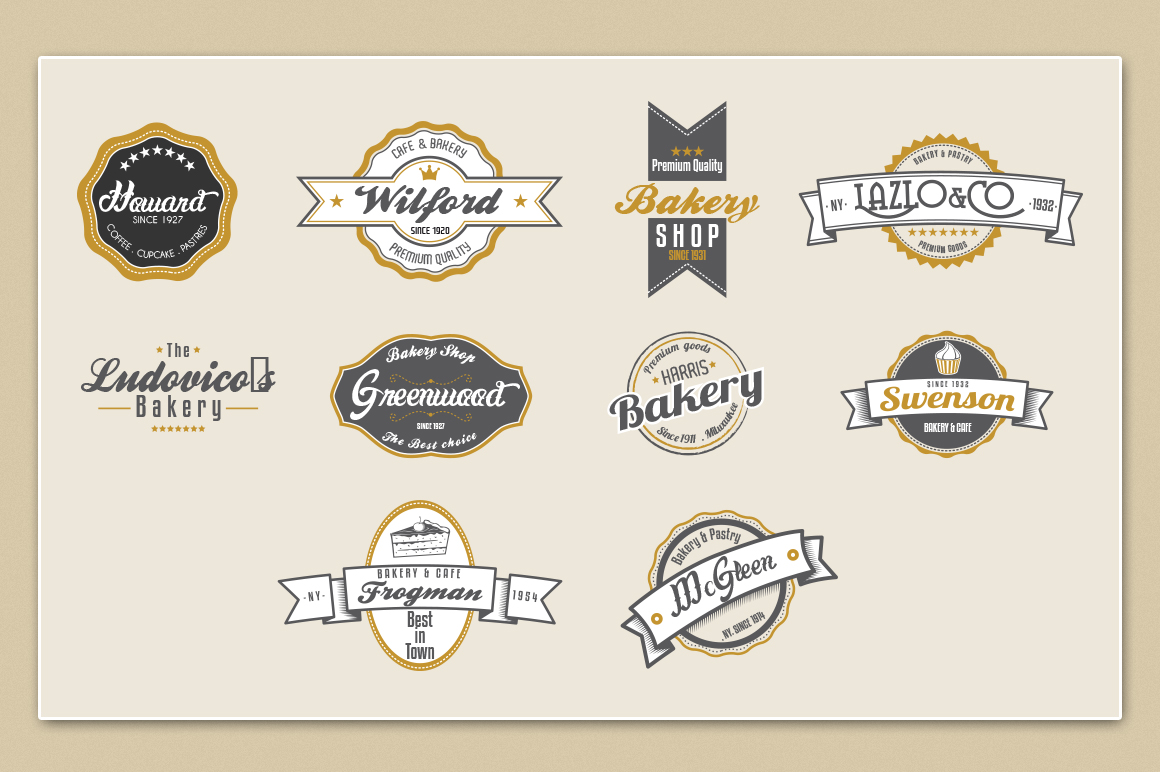Bakery & Pastry Vintage logo example image 2
