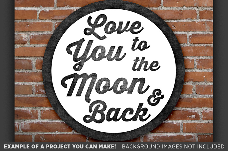 Love You To The Moon And Back SVG Sign - Valentines - 1504 example image 2