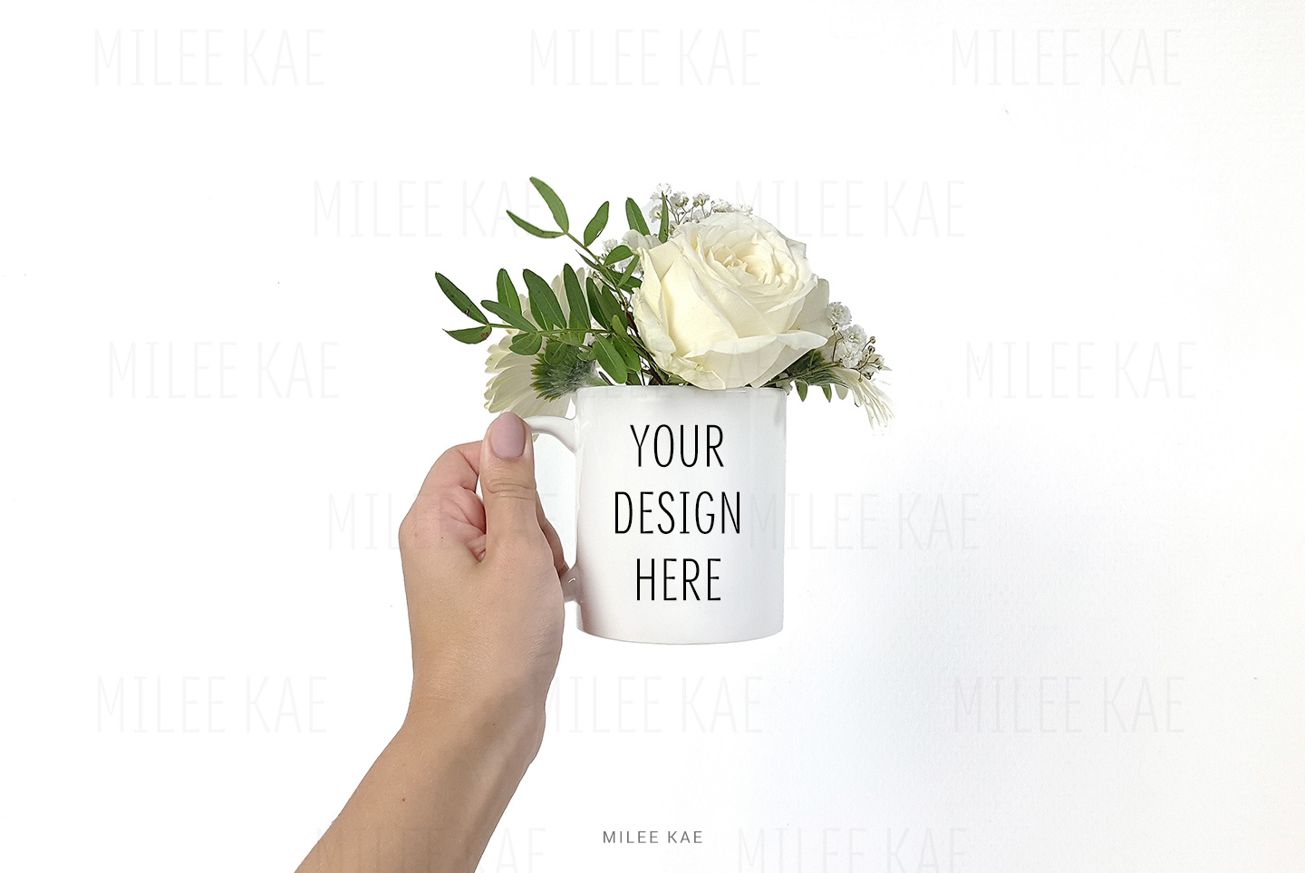 White coffee mug mockup, JPG & PSD example image 2
