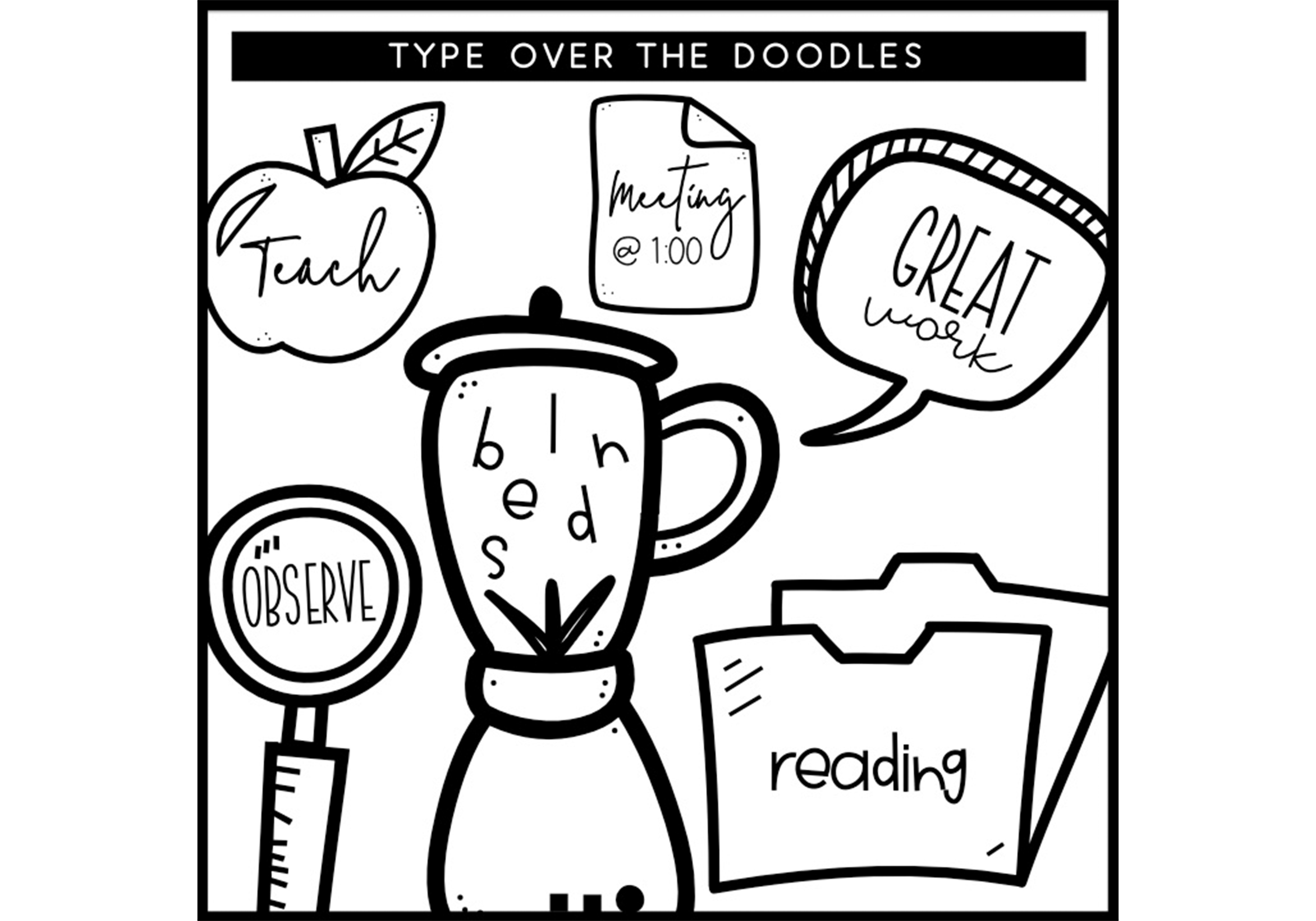 All The Things - A Doodle Font example image 6