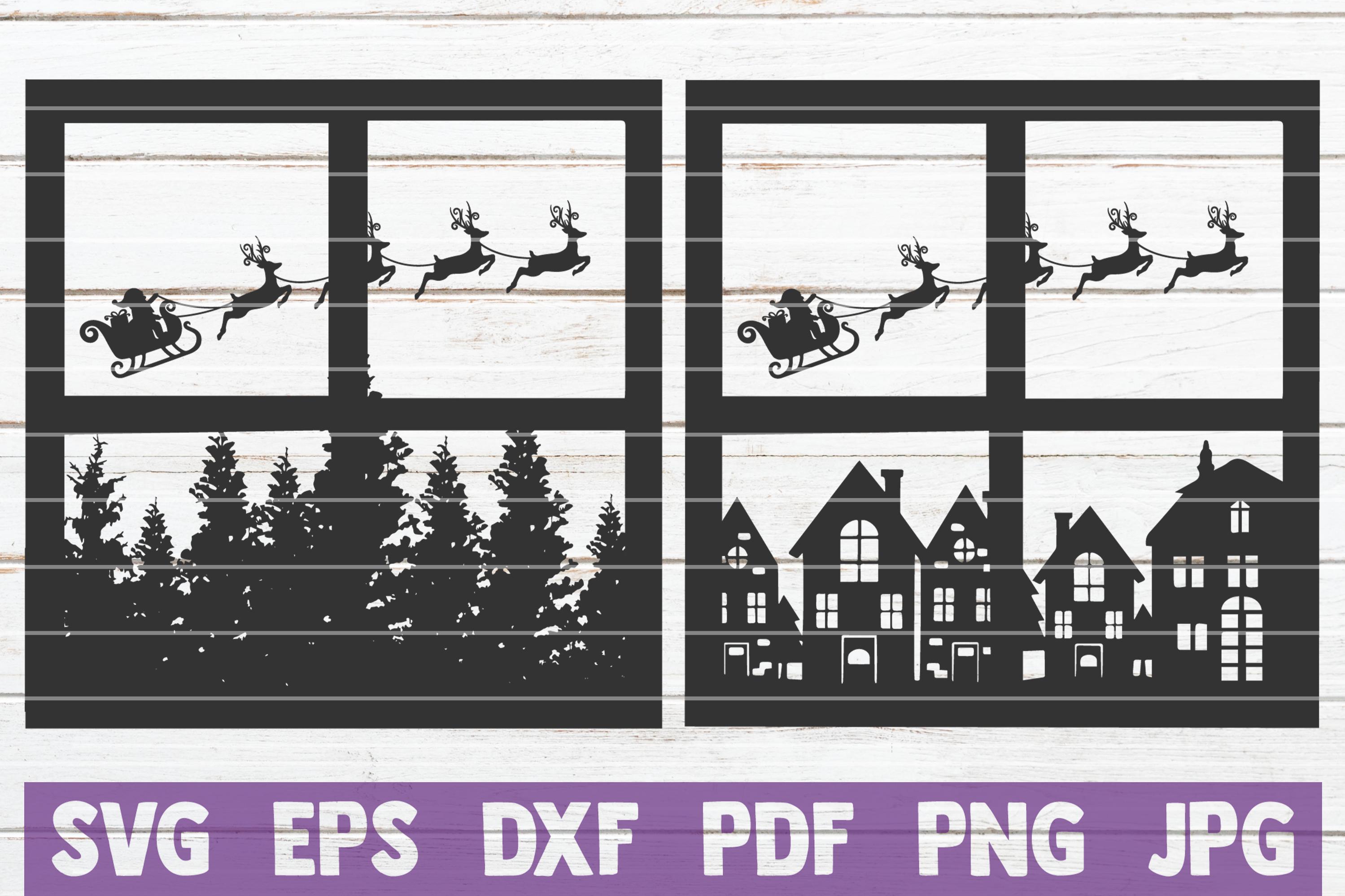 Santa Scene SVG Cut File example image 1