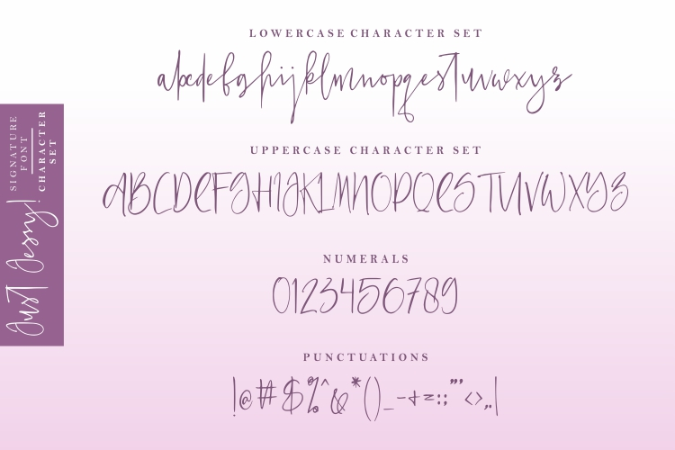 Just Jessy Signature Font example image 5