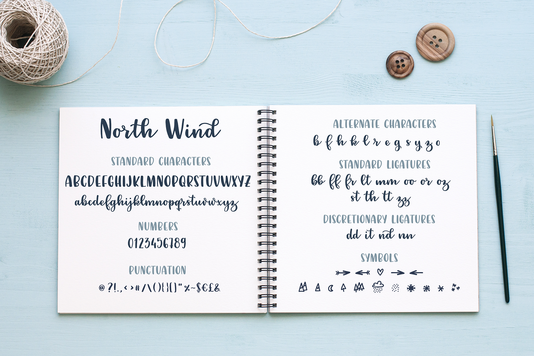 North Wind Script Font example image 2