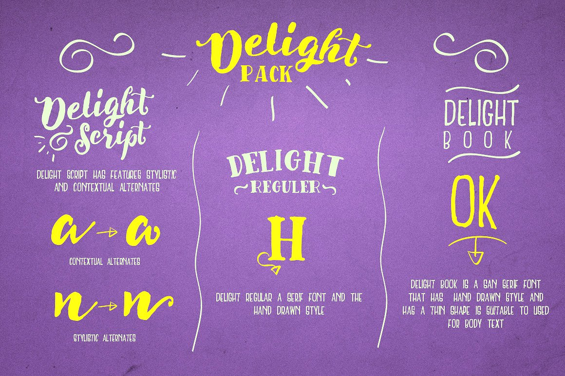 Delight Font Pack & Extra example image 3