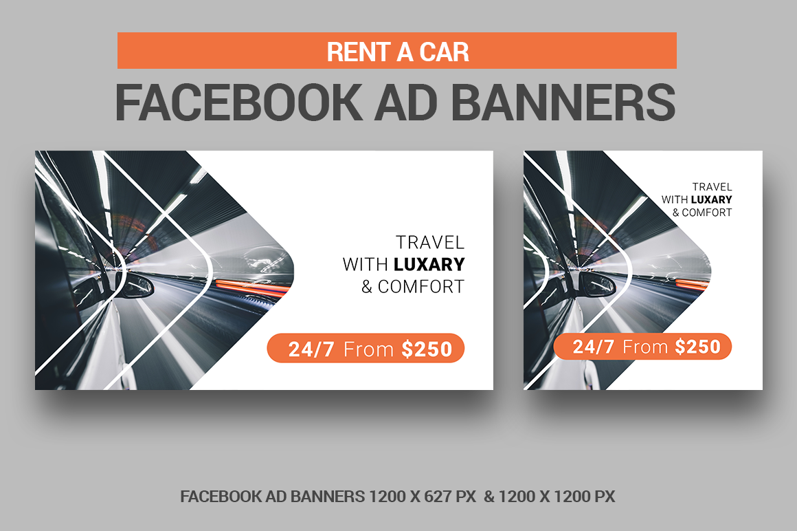 Rent A Car Facebook Ad Banners example image 1