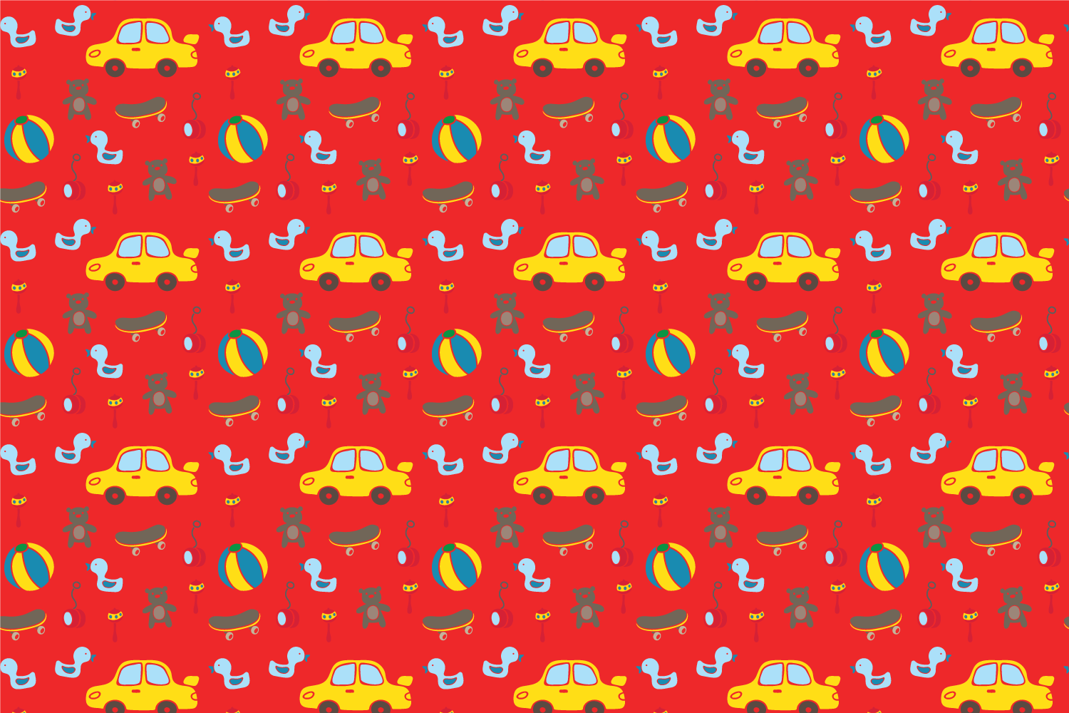 Cute baby toys seamless pattern example image 2