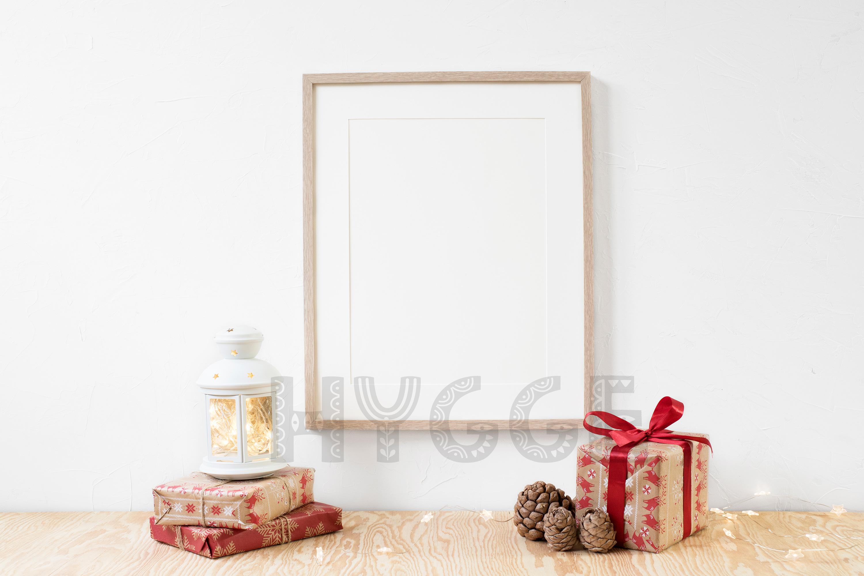 Christmas Frame Mockup, Simple Poster Mockup, Digital Print example image 2
