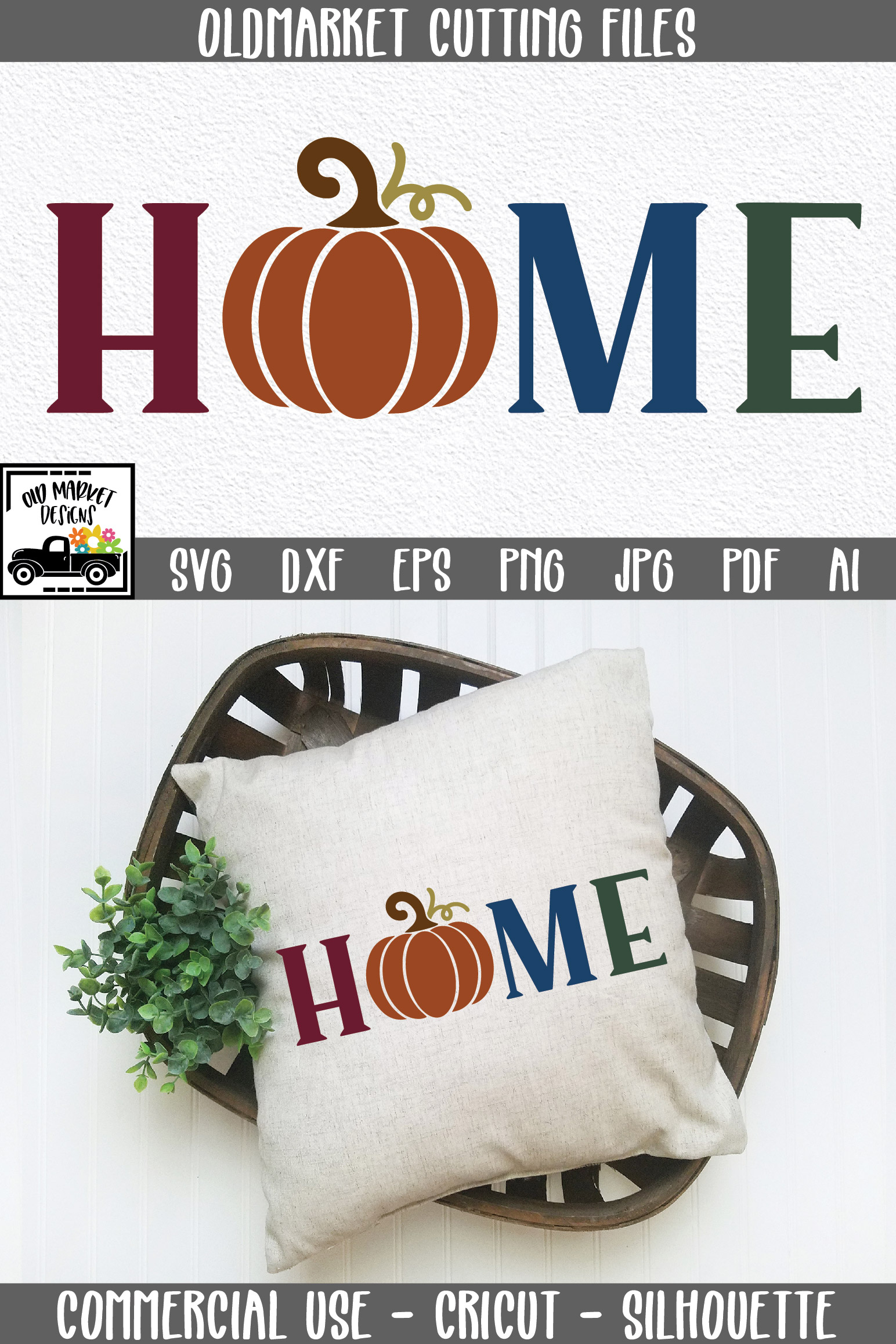 Home SVG Cut File - Fall Pumpkin SVG example image 7