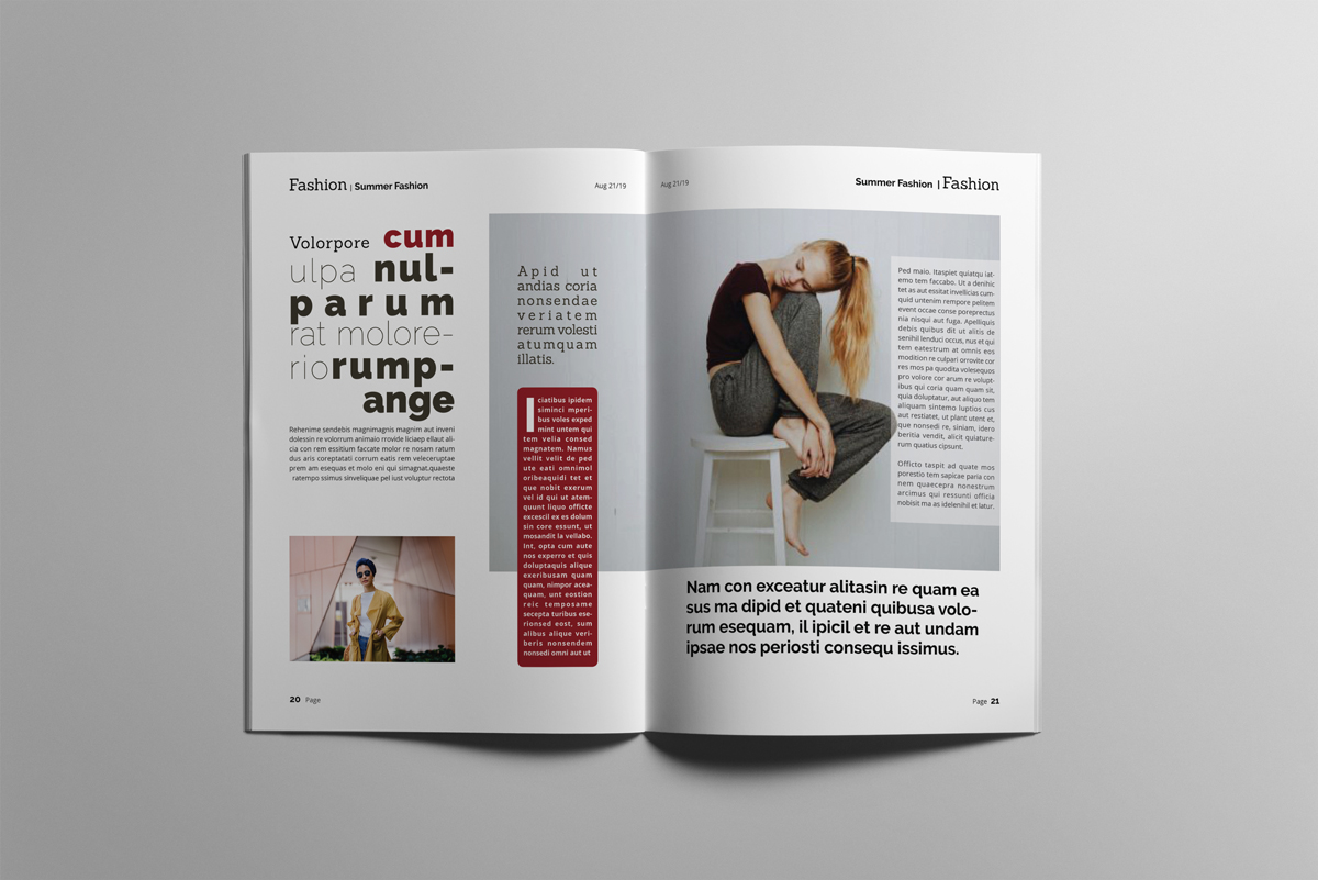 Magazine layout design example image 11
