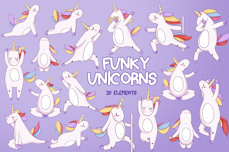 Funky Unicorns example image 1
