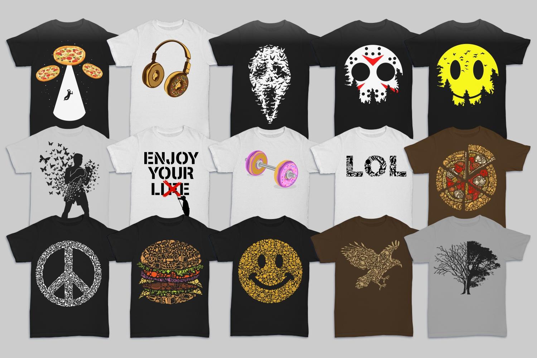 Tshirt Designs Mega Bundle Pack 1 + Pack 2 example image 6