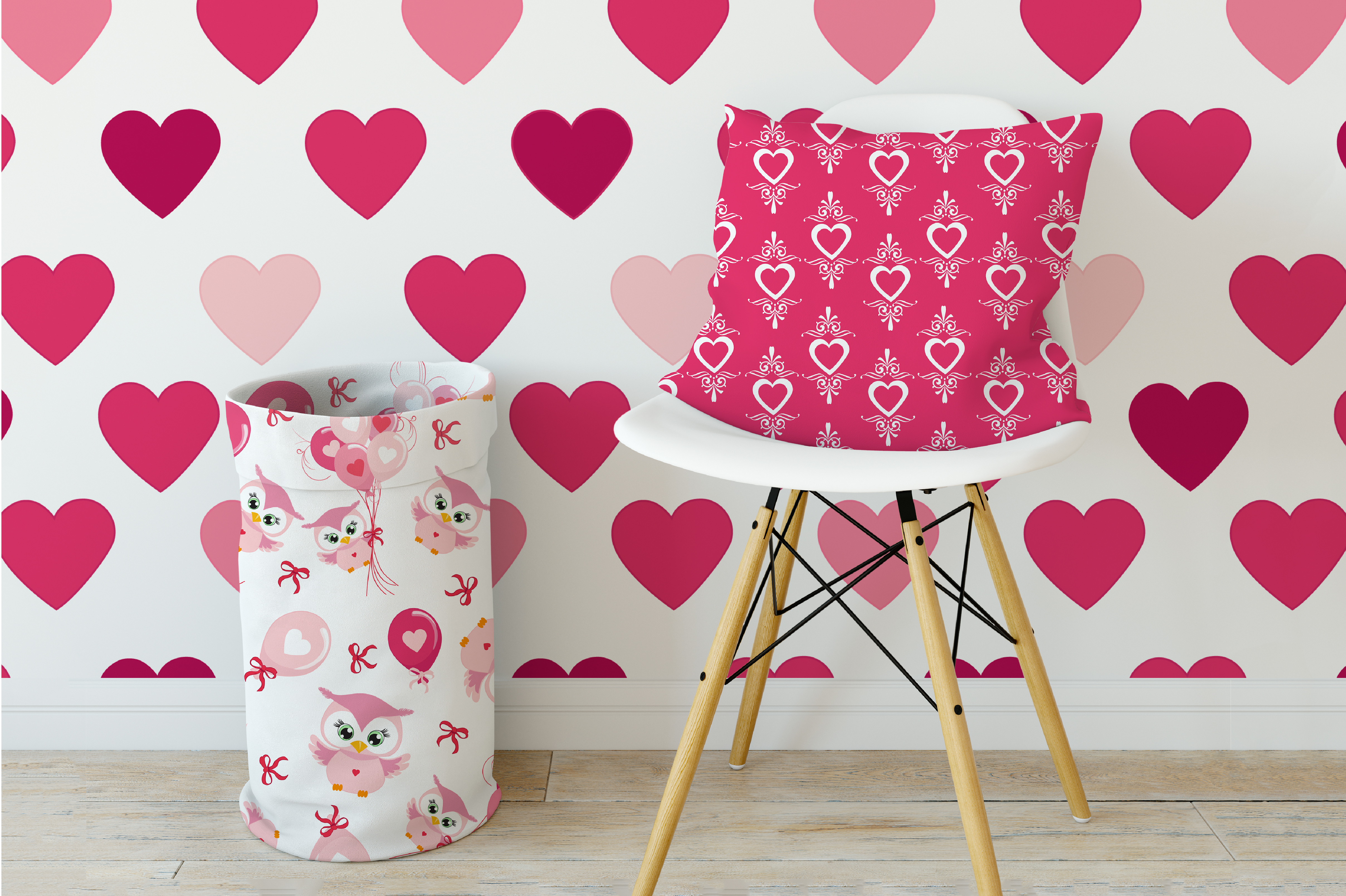 Be my Valentine pattern, papers, surface design AMB-1166 example image 5