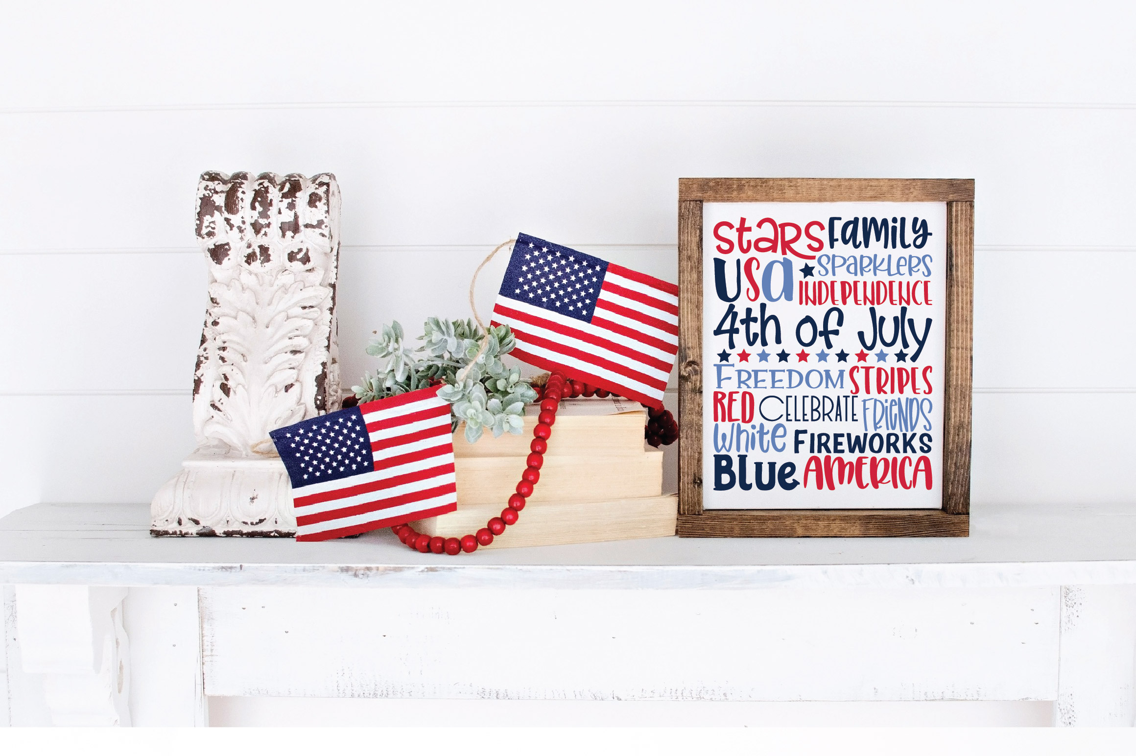 4th of July Subway Art SVG Cut File example image 2
