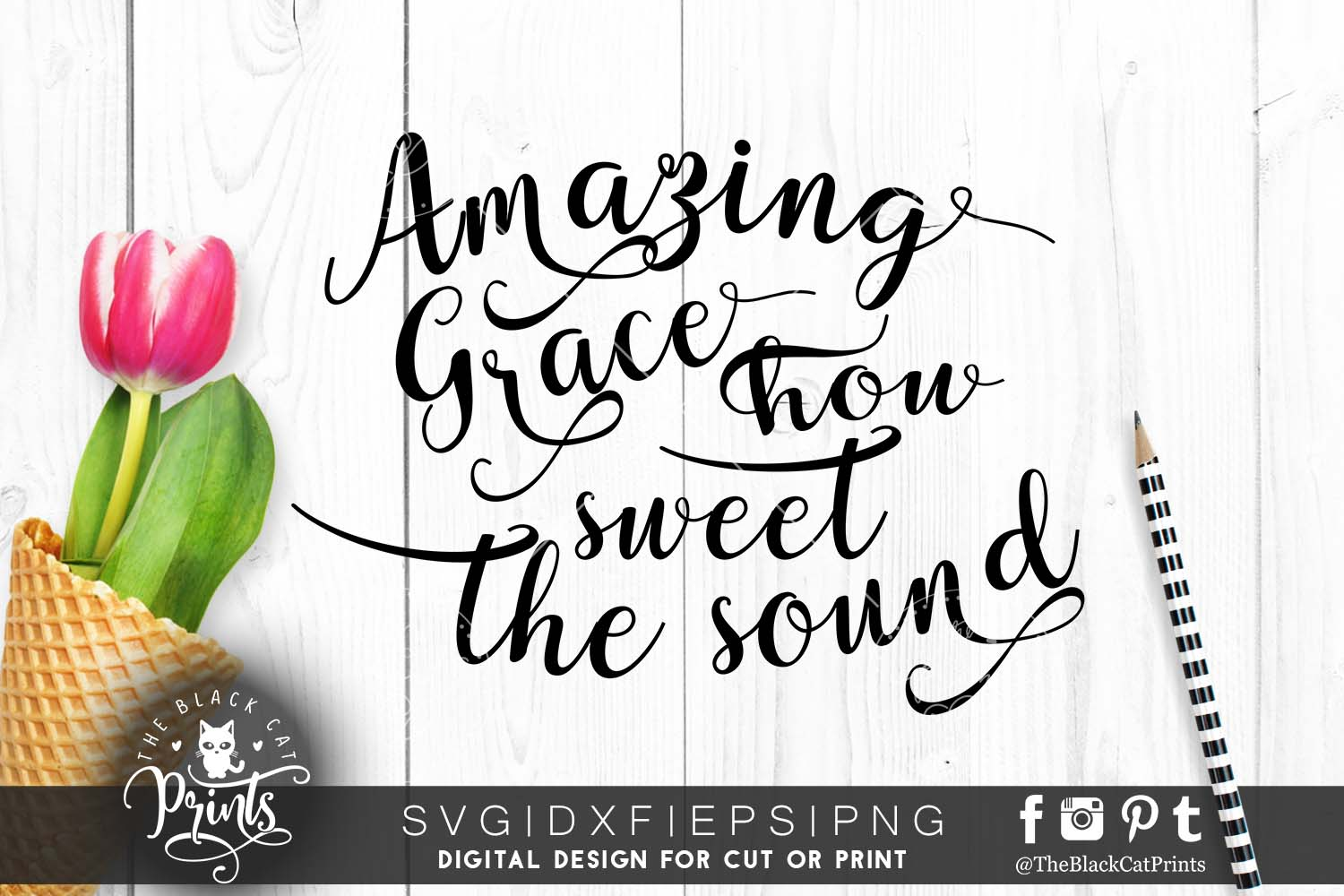 Amazing grace SVG PNG EPS DXF example image 1