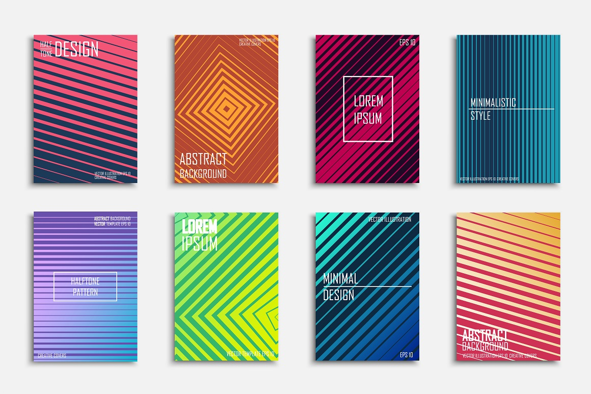 Bright colorful abstract covers example image 1