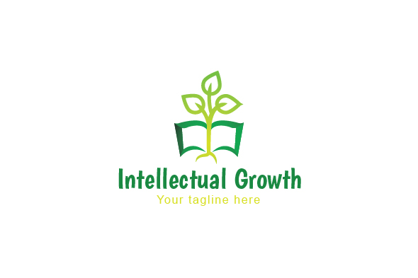 Intellectual Growth - Nature & Education Abstract Stock Logo example image 1