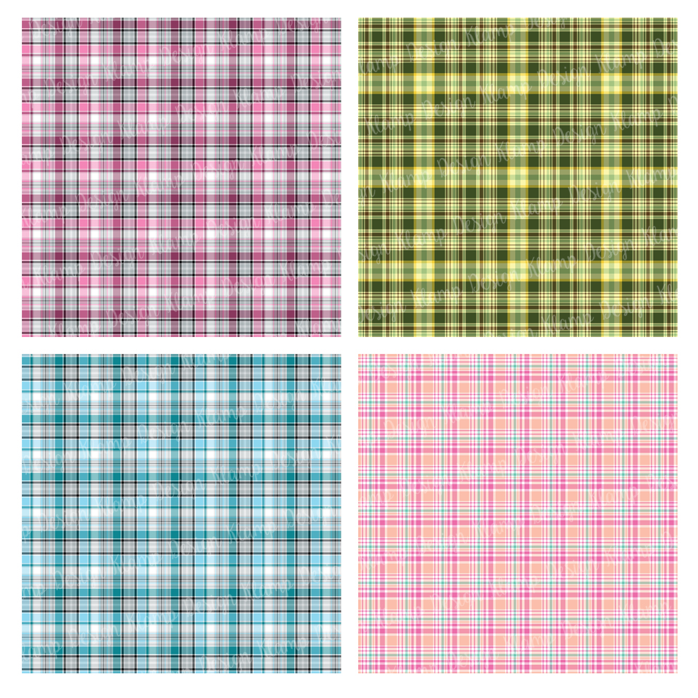 Plaid Digital Paper Pack / Backgrounds / Scrapbooking / Patterns / Printables / Card Making example image 2