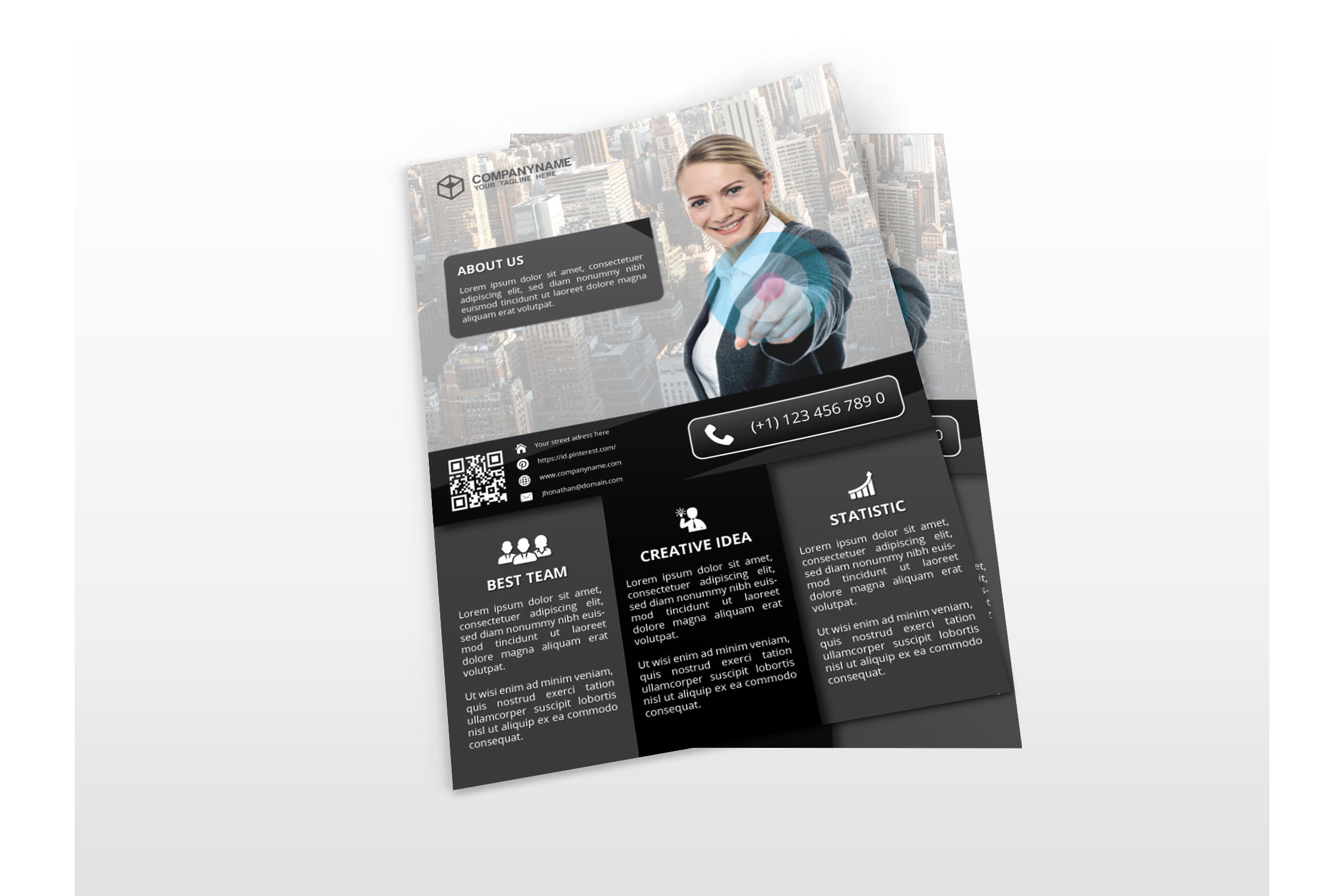 Modern Business Flyers example image 4