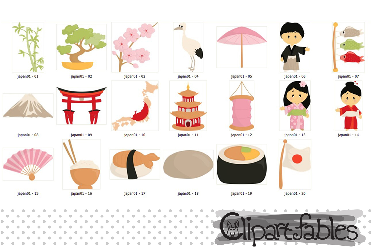 Japan Tradition clipart, japanese clip art, cute travel art example image 2