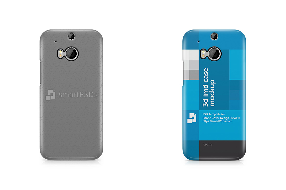 HTC ONE M8 3d IMD Mobile Case Design Mockup 2014 example image 2