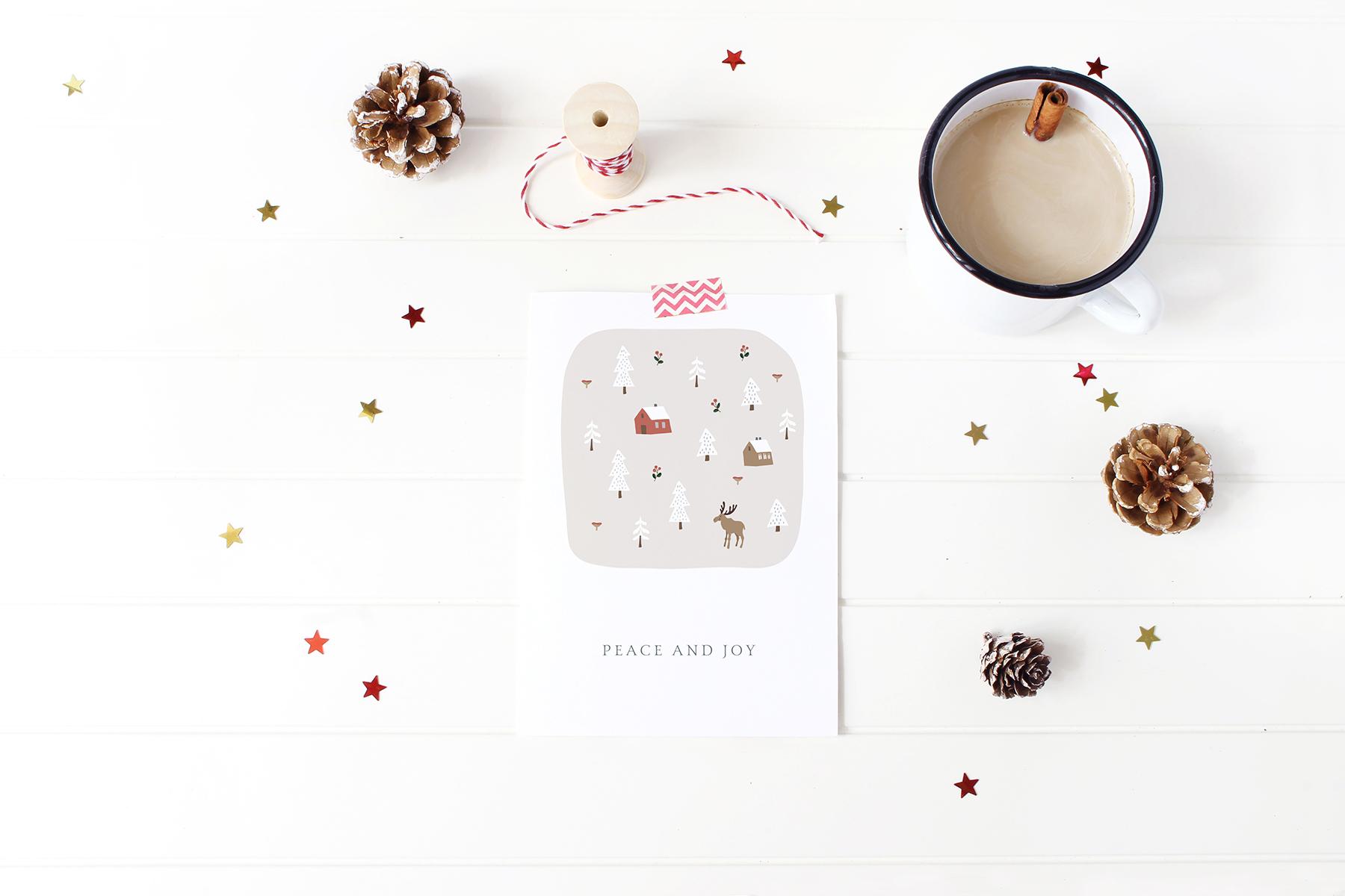 Charming Christmas card & map creator example image 9