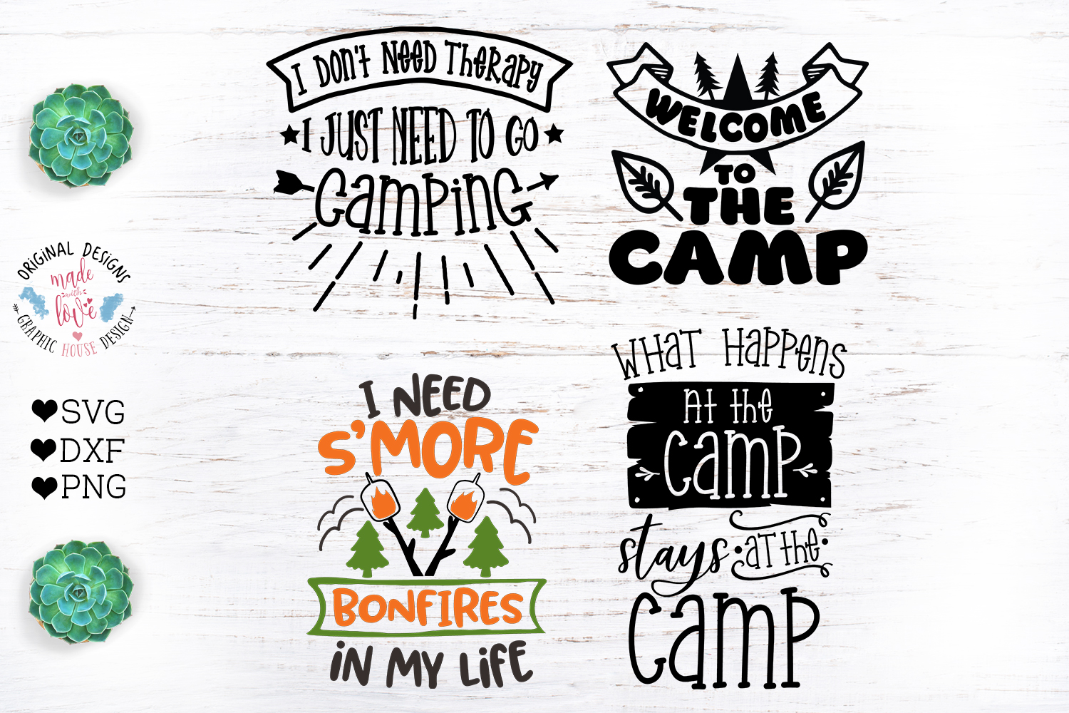 Camp Quotes Bundle - Camping Cut Files example image 2