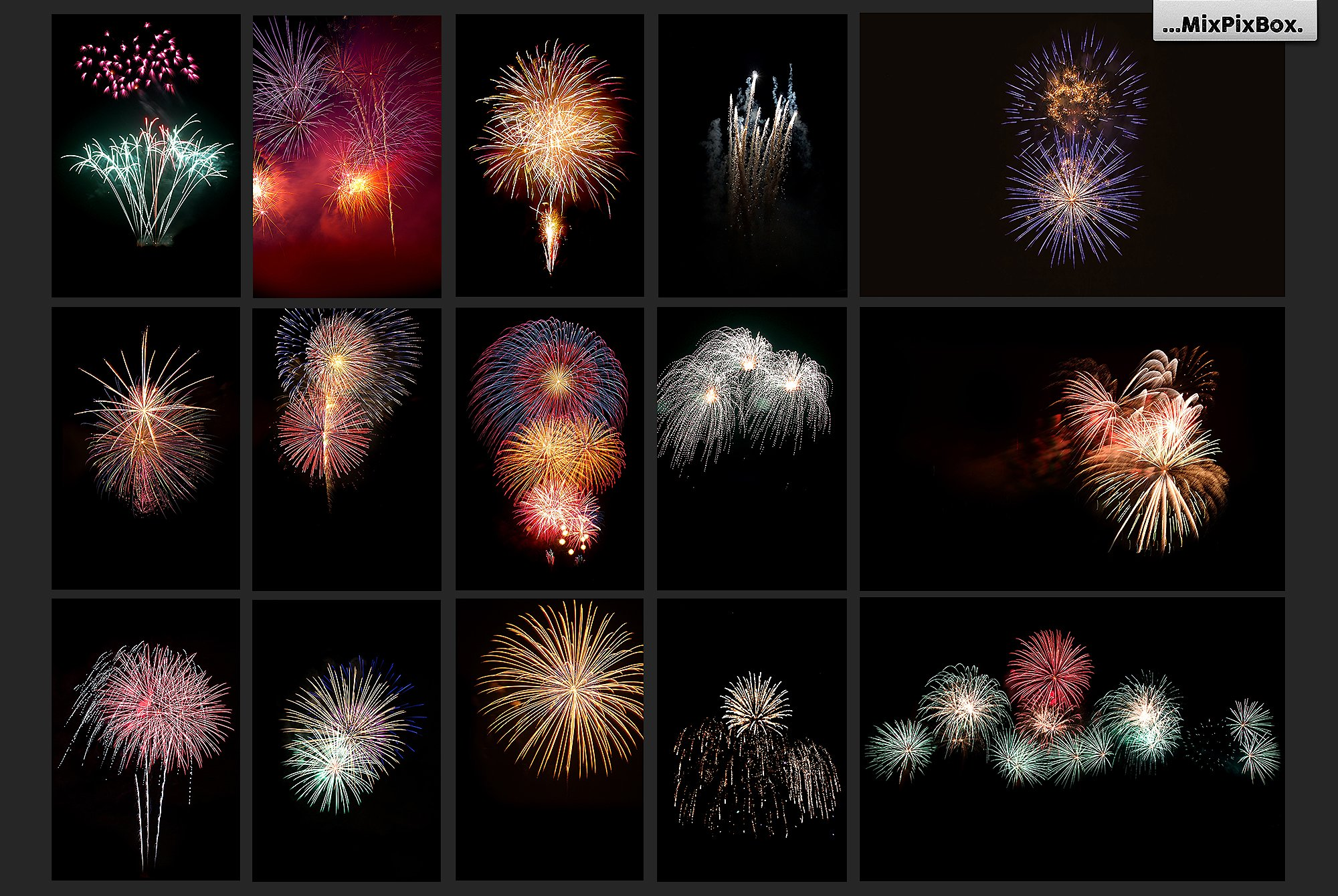 100 Fireworks Overlays example image 6