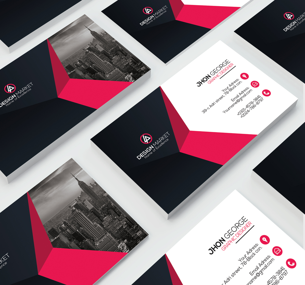 Clean Business Card Psd example image 4