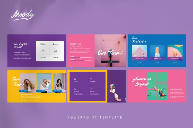 MOODY Powerpoint Template example image 5
