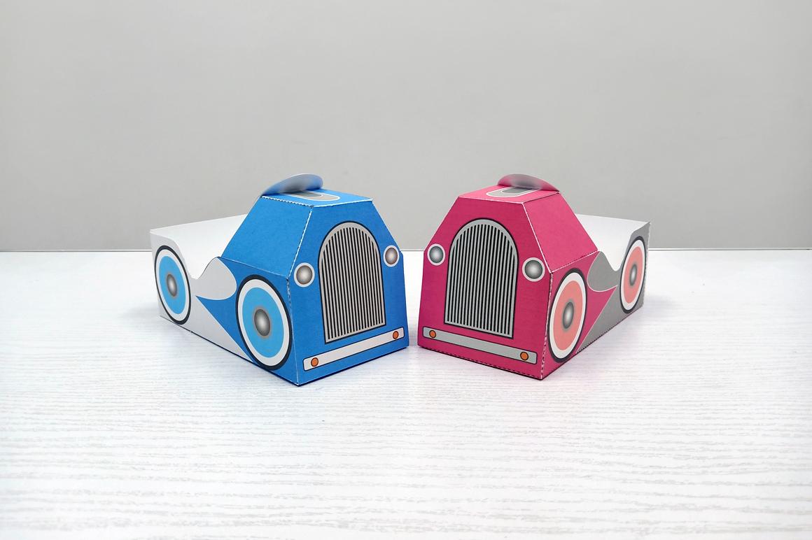 DIY Pedal car favor - 3d papercraft example image 9