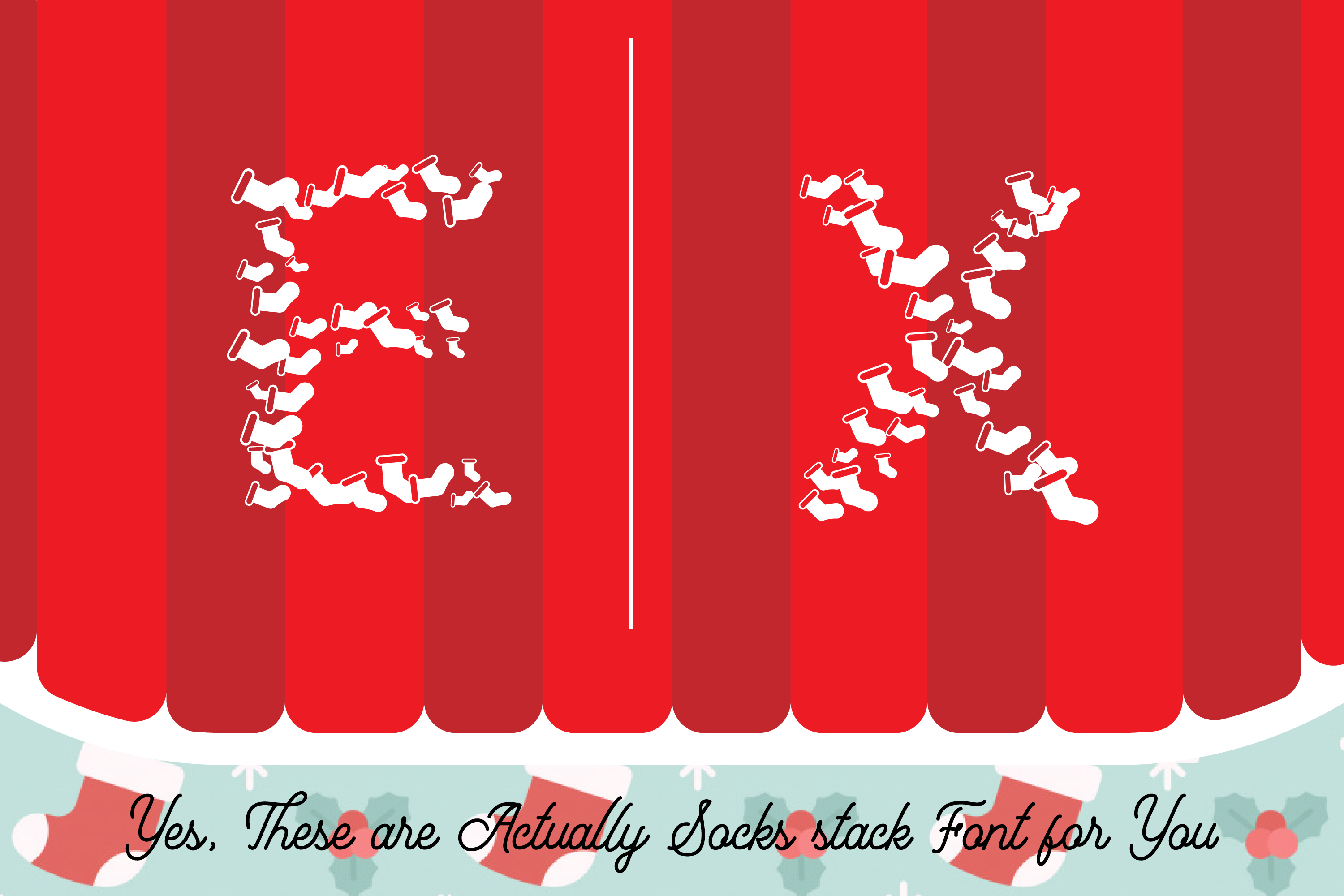 Christmas Socks Font - A Cute Wearable Event Font example image 2