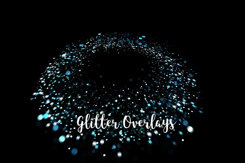 Glitter Dust Overlays, Glitter Bokeh Texture Overlays example image 11