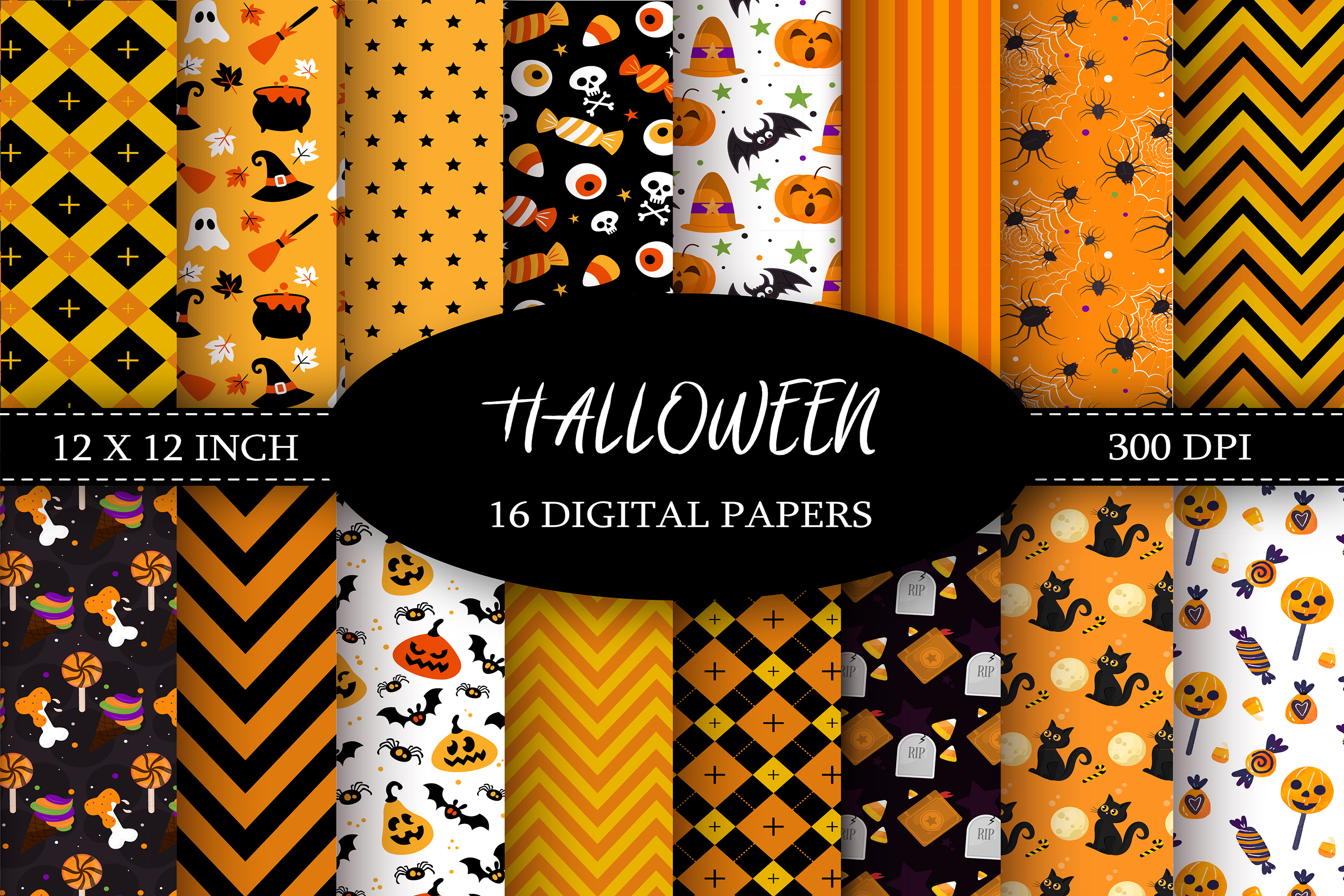 Halloween Digital Paper example image 1