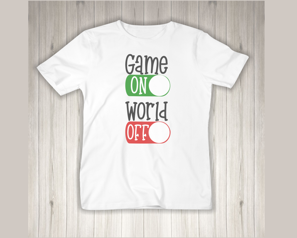 Game On World Off - A Gaming SVG example image 2