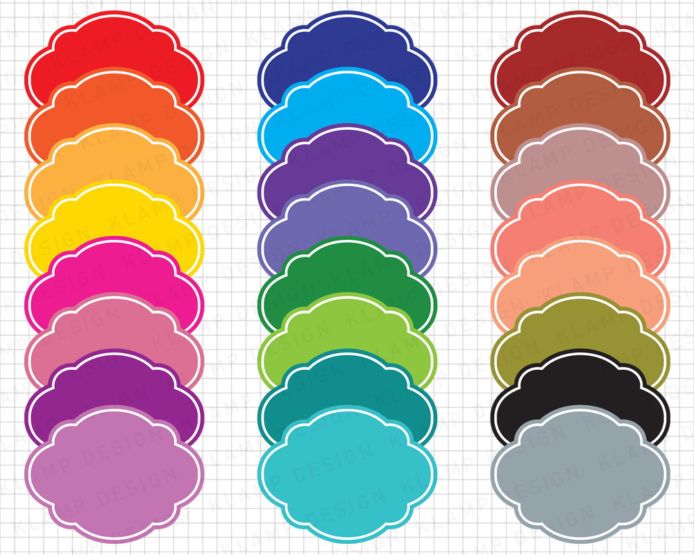 Labels Bundle Graphics and Illustrations / Frames Bundle example image 3