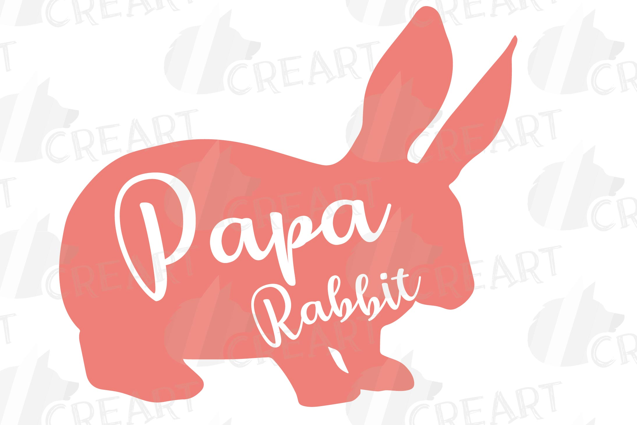 Rabbit family silhouettes, bunny silhouette svg cutting file example image 22