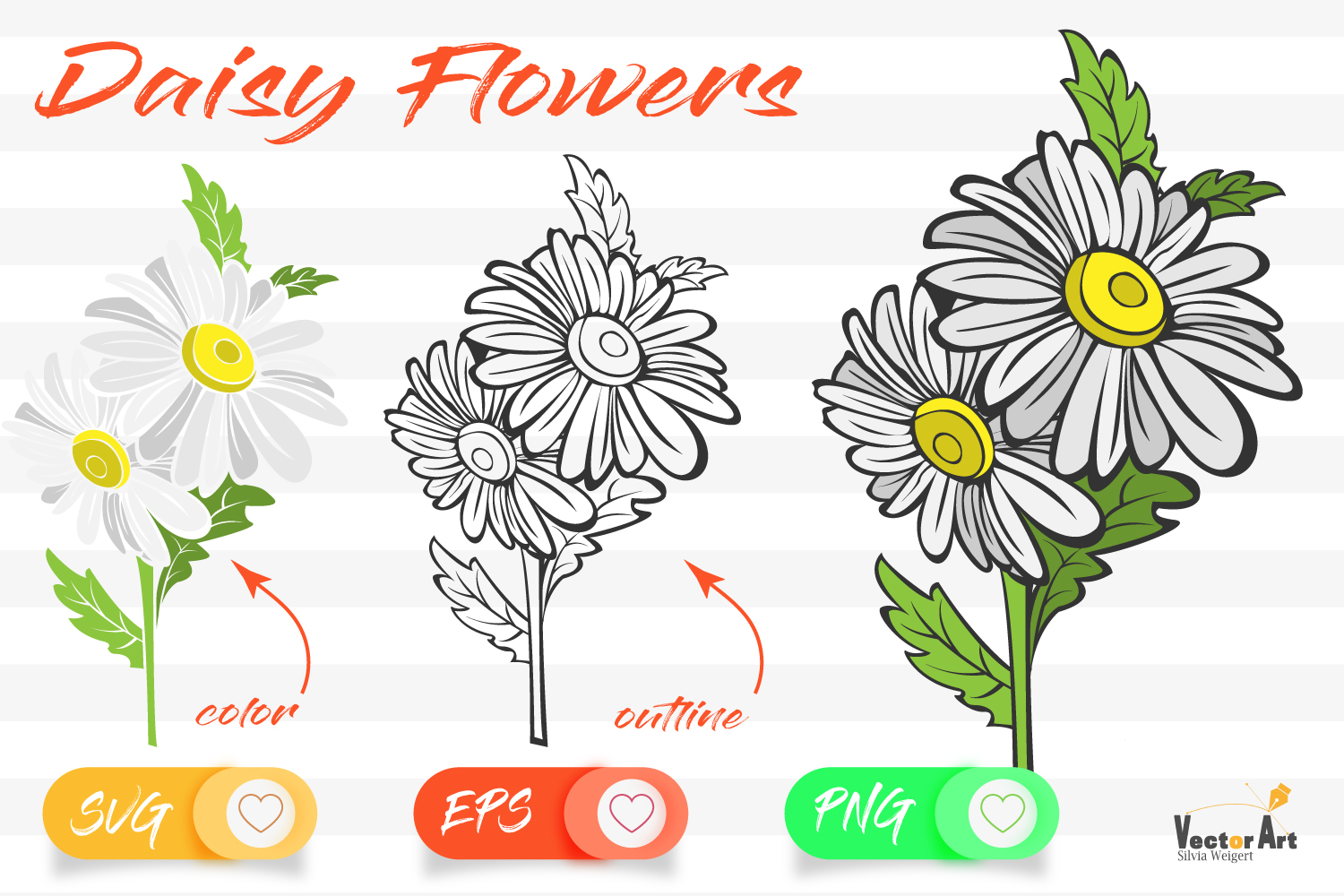 Daisy Flower- Cut File with 2 Layers example image 1