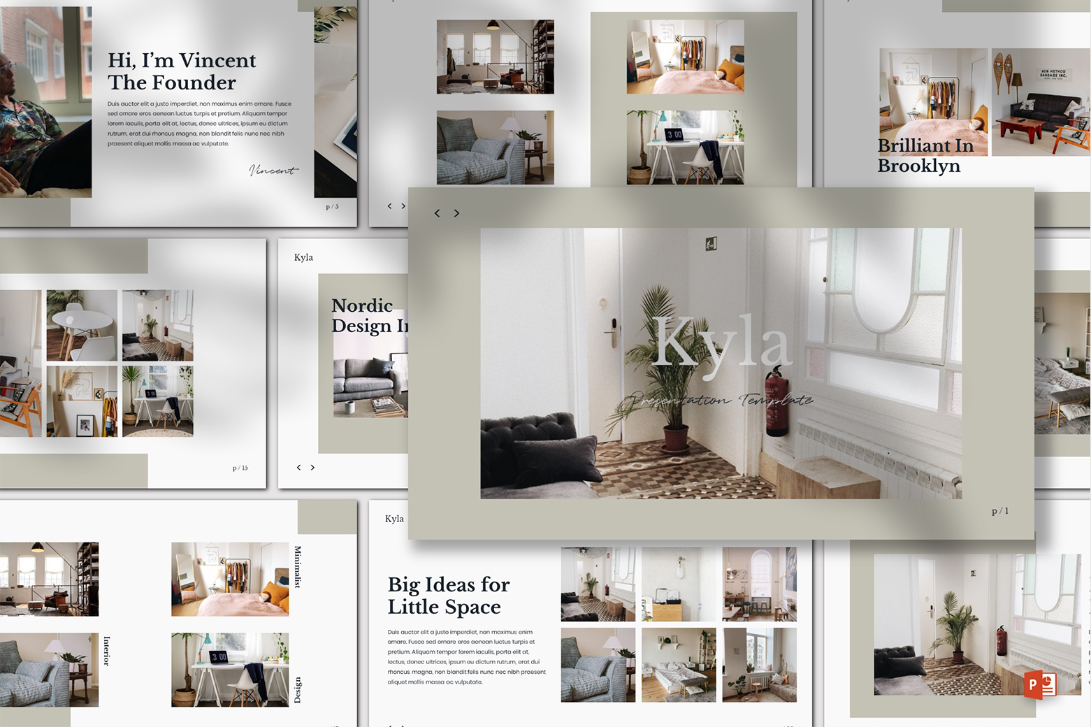 Kyla - Powerpoint Template example image 1