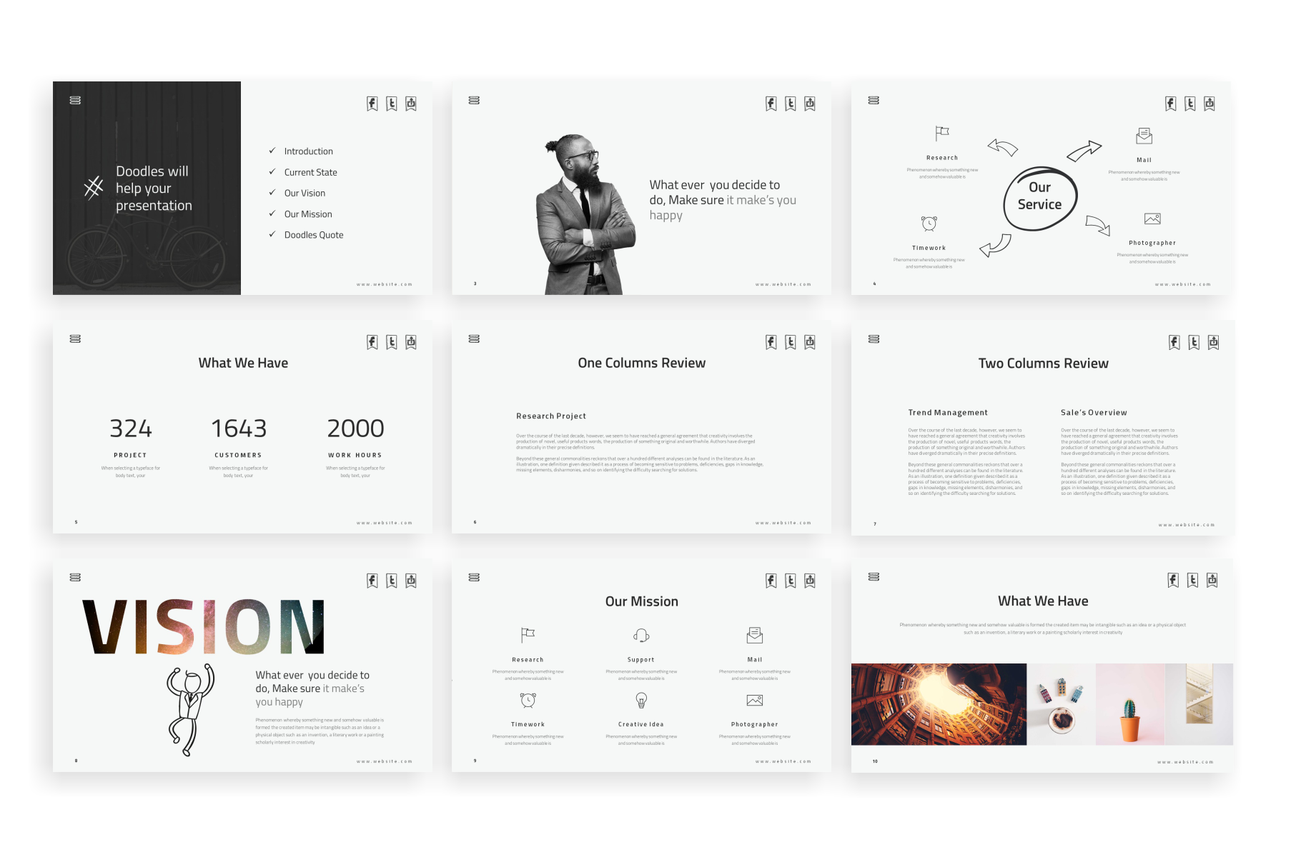 Doodles PowerPoint Template example image 2