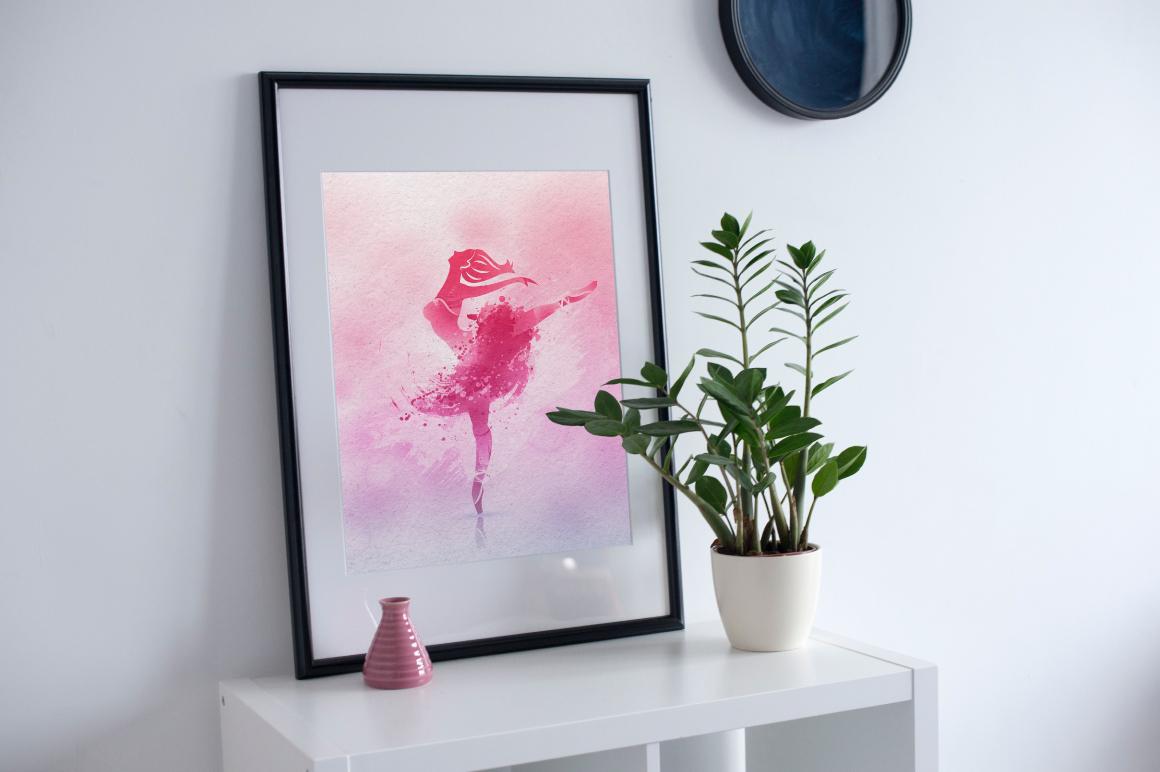Watercolor poster - Ballerina example image 3