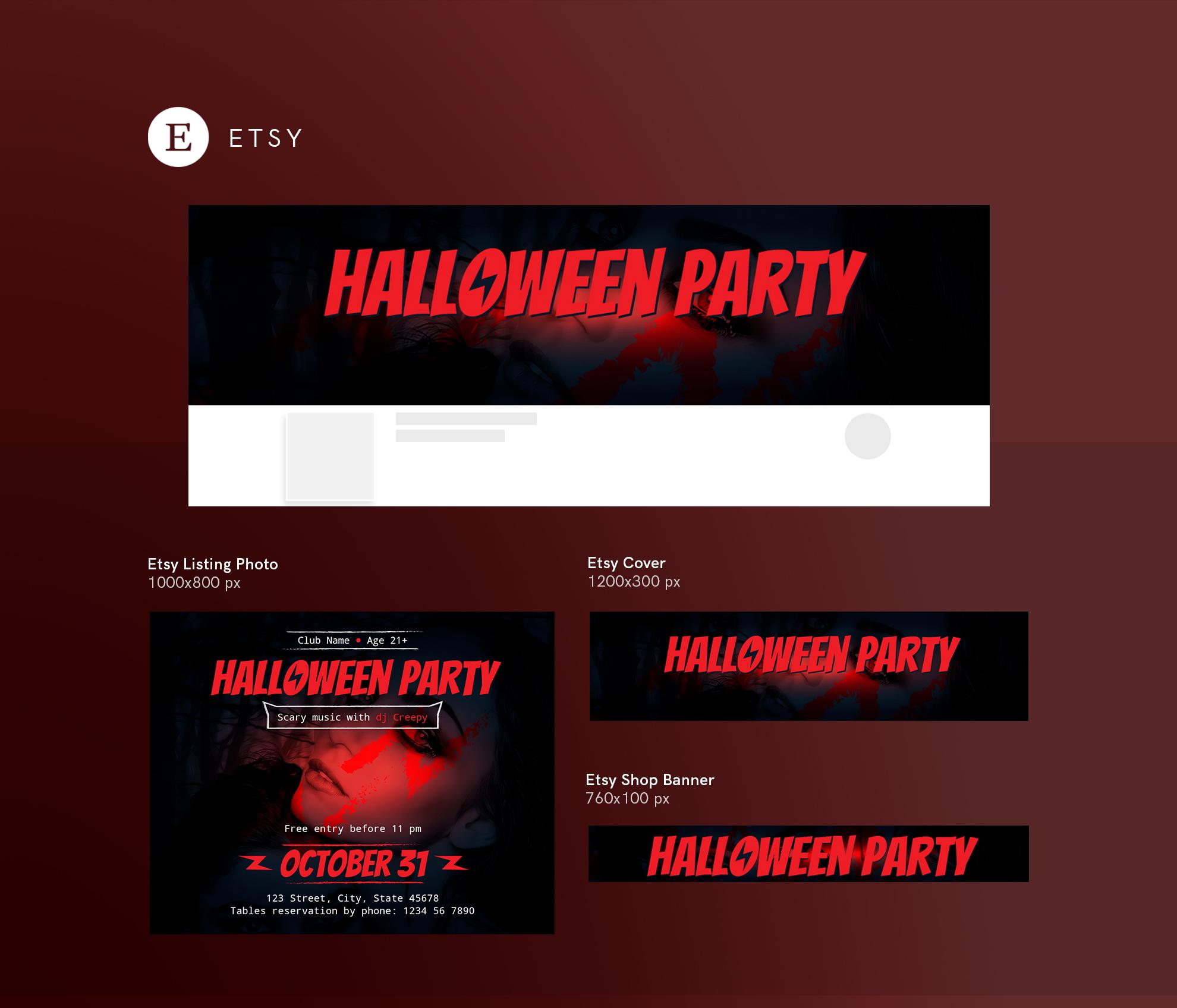 Halloween Party Design Templates Bundle example image 14