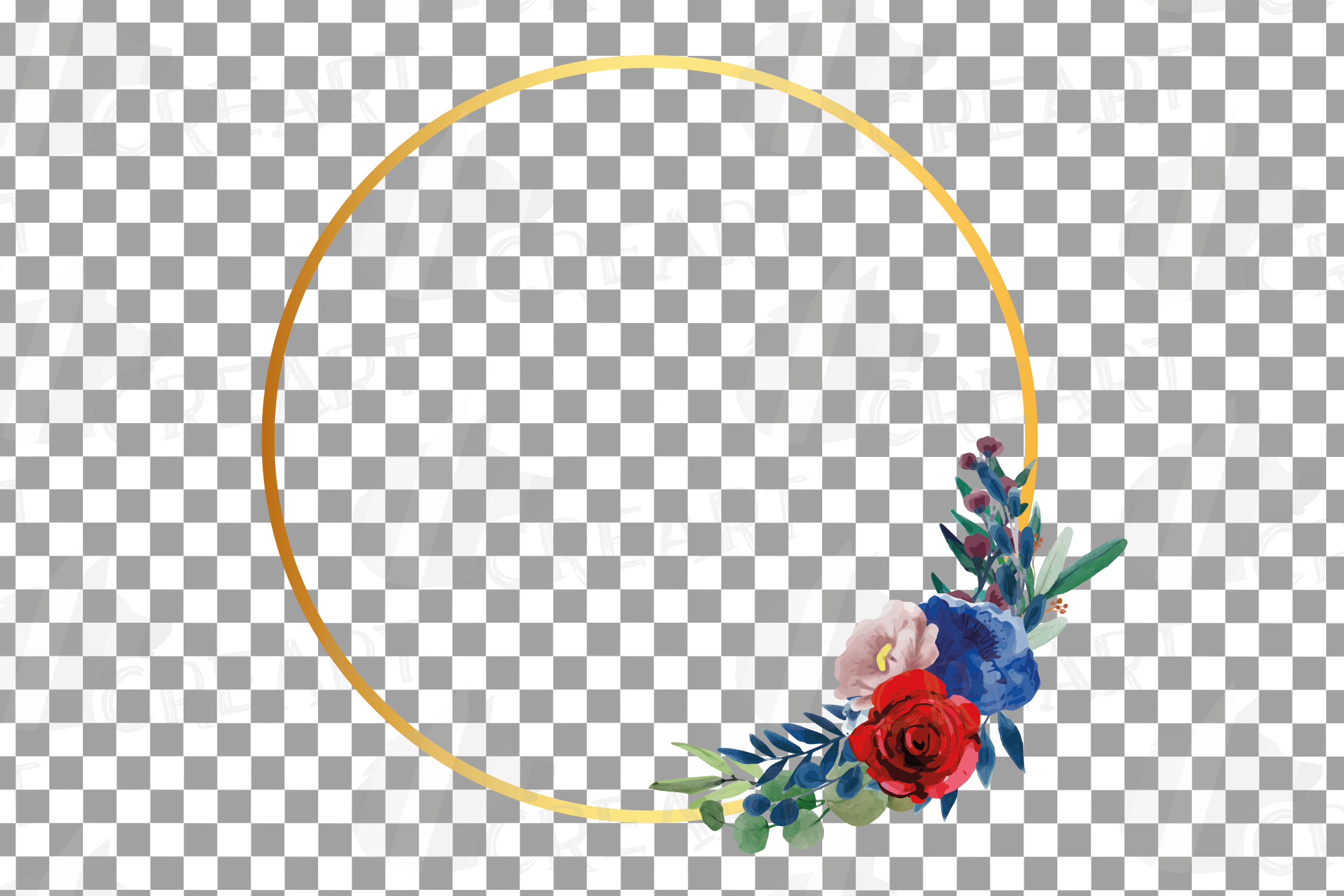 Watercolor elegant floral borders clip art. Wedding frames example image 19