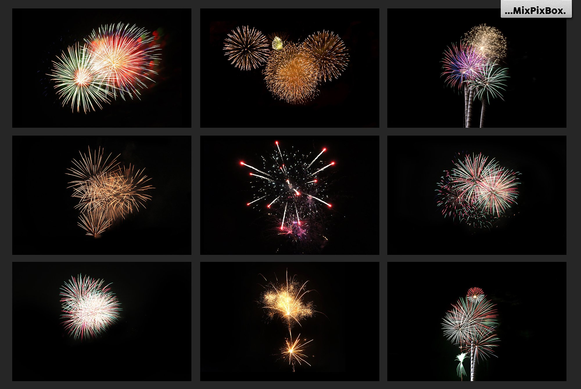 100 Fireworks Overlays example image 9