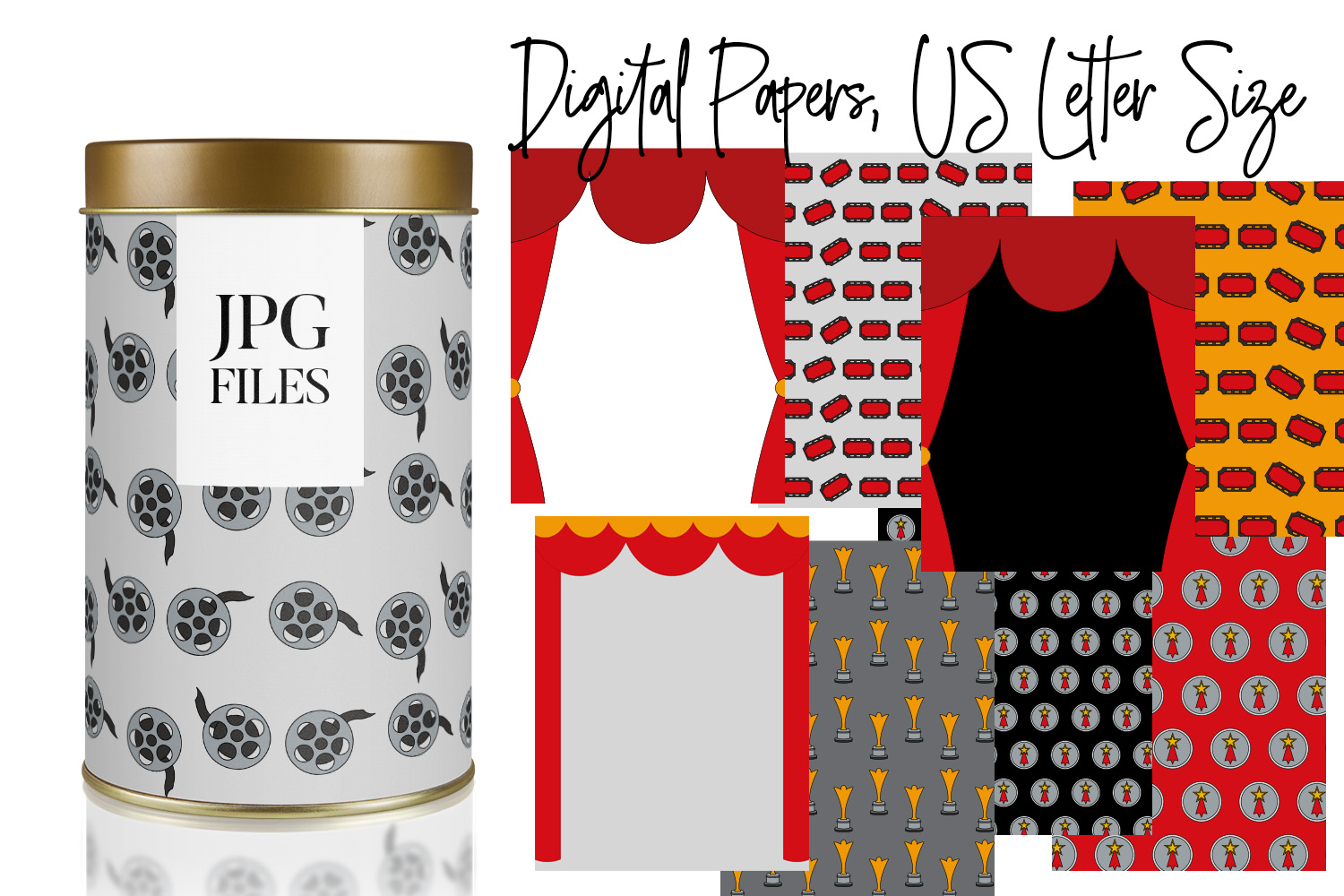 Digital Papers Bundle Vol. 2 - Background Patterns example image 15