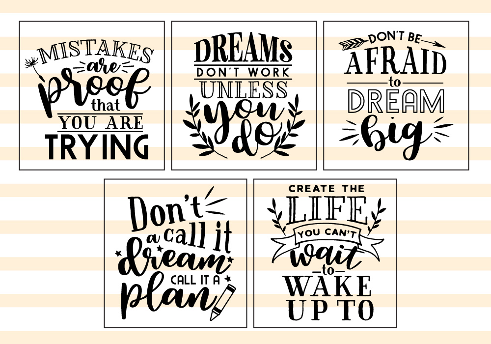 Motivational Quote SVG Cut Files Bundle example image 4