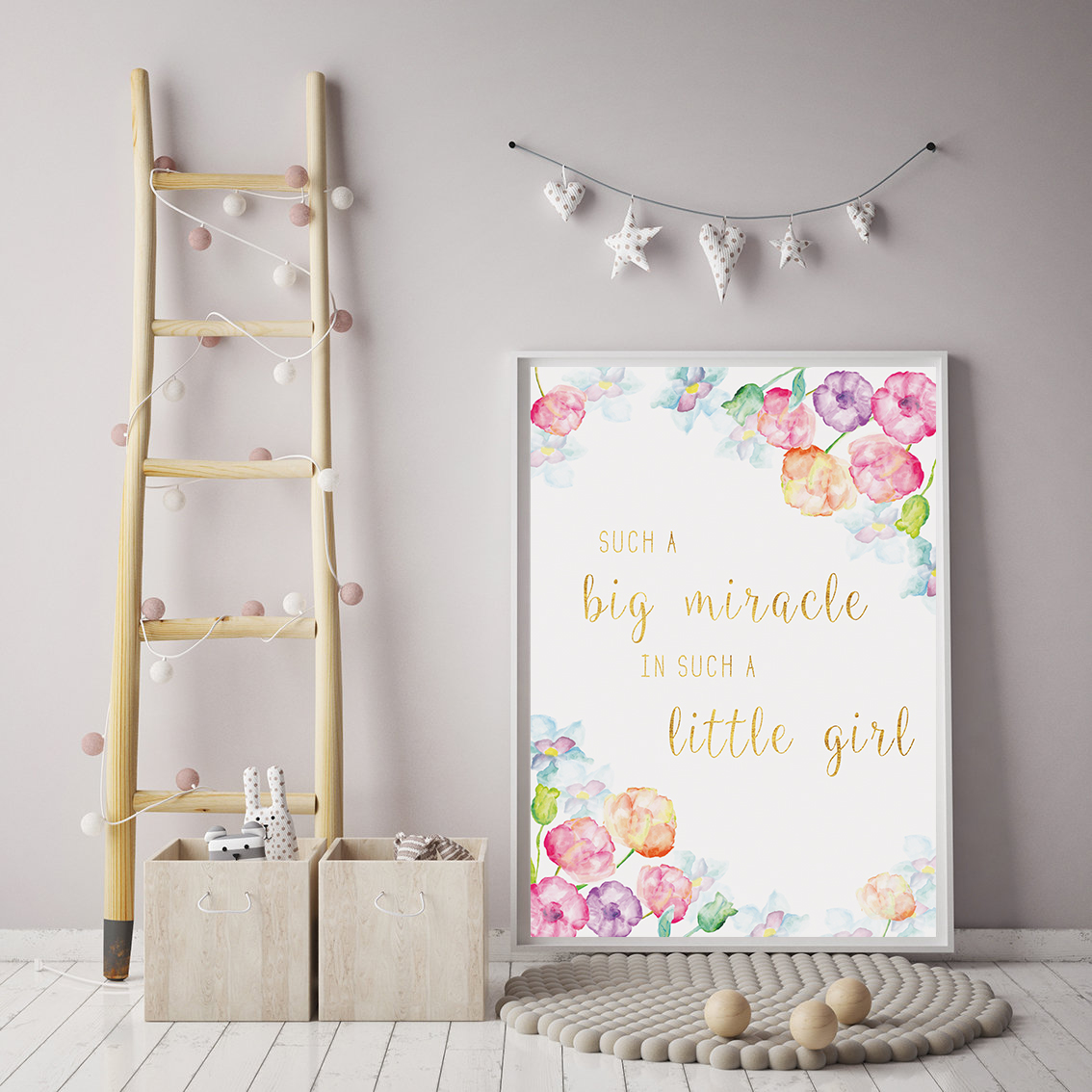 Downloadable Prints for Nursery, Girls Room Wall Prints example image 2