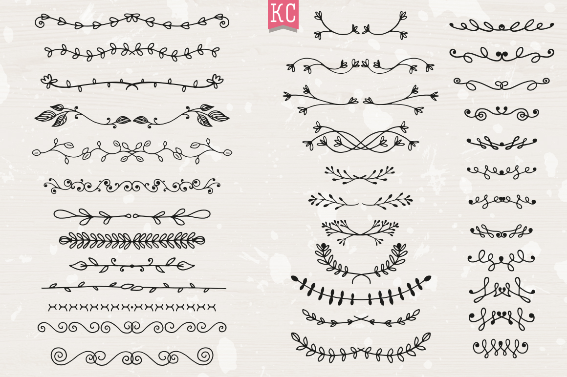 Hand Drawn Doodle Dividers example image 5