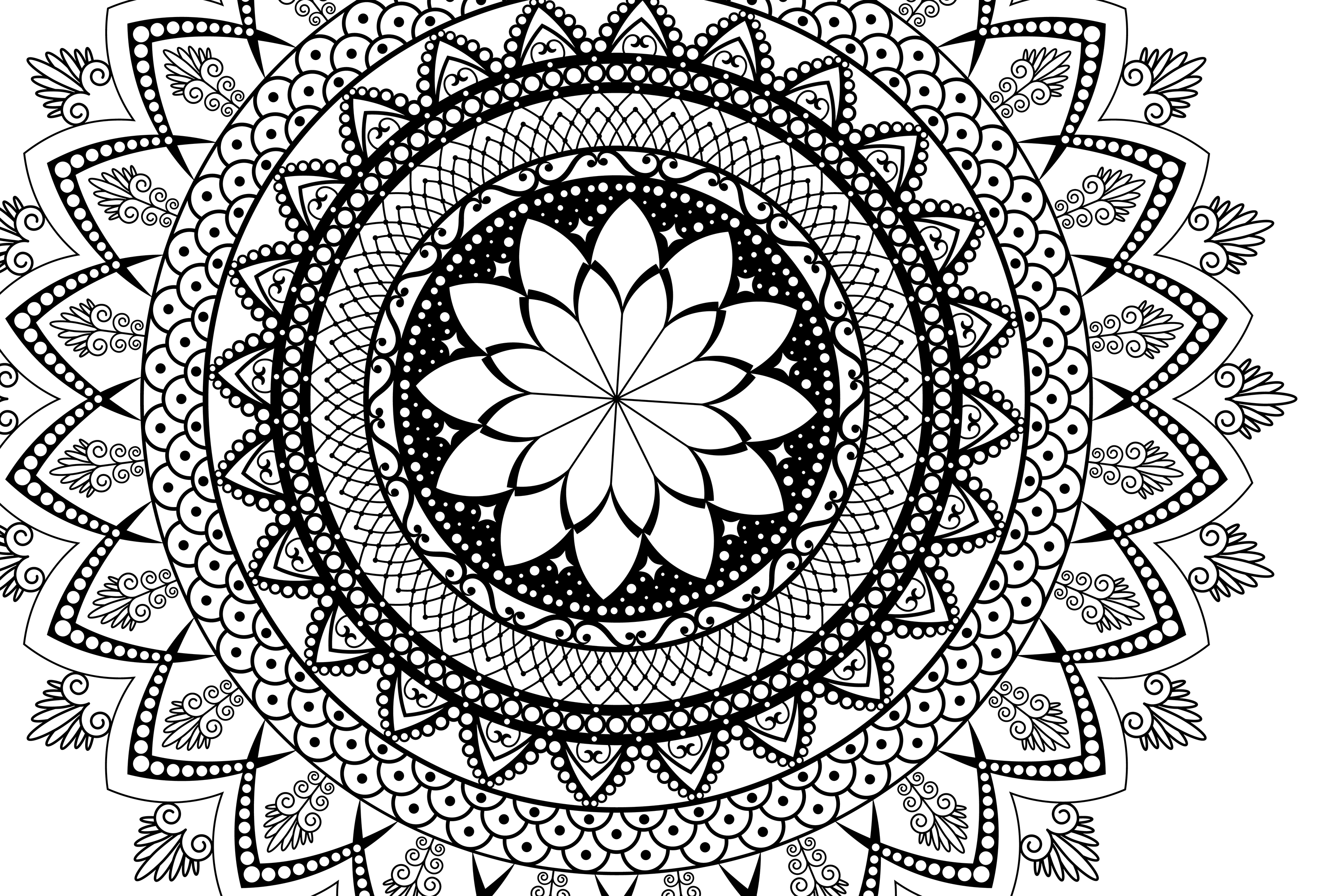 Mandala svg Circle file | Mandala clip art example image 3
