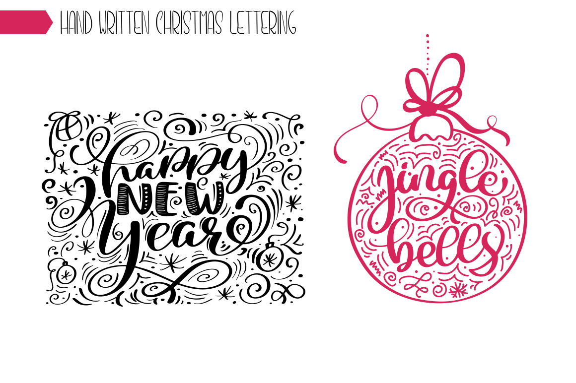 Christmas Lettering Phrases svg example image 8